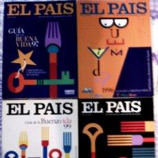 Coleccionismo de Periódico El País: LOTE DE - 4 GUÍAS DEL PAIS - GUIA DE LA BUENA VIDA - AÑOS 1996 , 97 , 98, 99. COMO NUEVAS. Lote 67730929