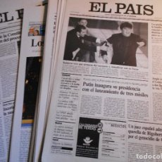 Coleccionismo de Periódico El País: EL PAIS. LOTE DE 28 HISTORICAS PORTADAS. CARTULINA. 790 GRAMOS.. Lote 71553735