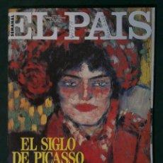 Collezionismo di Periódico El País: EL PAIS SEMANAL Nº 40 NOVIEMBRE 1991, PICASSO, ANTONIO BANDERAS, GABINETE CALIGARI, MAGIC JOHNSON,... Lote 160145753