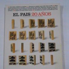 Coleccionismo de Periódico El País: EL PAIS. - 20 AÑOS - 1996. TDK83. Lote 31682143