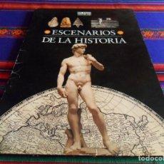 Coleccionismo de Periódico El País: ESCENARIOS DE LA HISTORIA COMPLETO 21 LÁMINAS MÁS CARPETA CON REGALO. EL PAÍS AGUILAR. BUEN ESTADO.. Lote 75187455