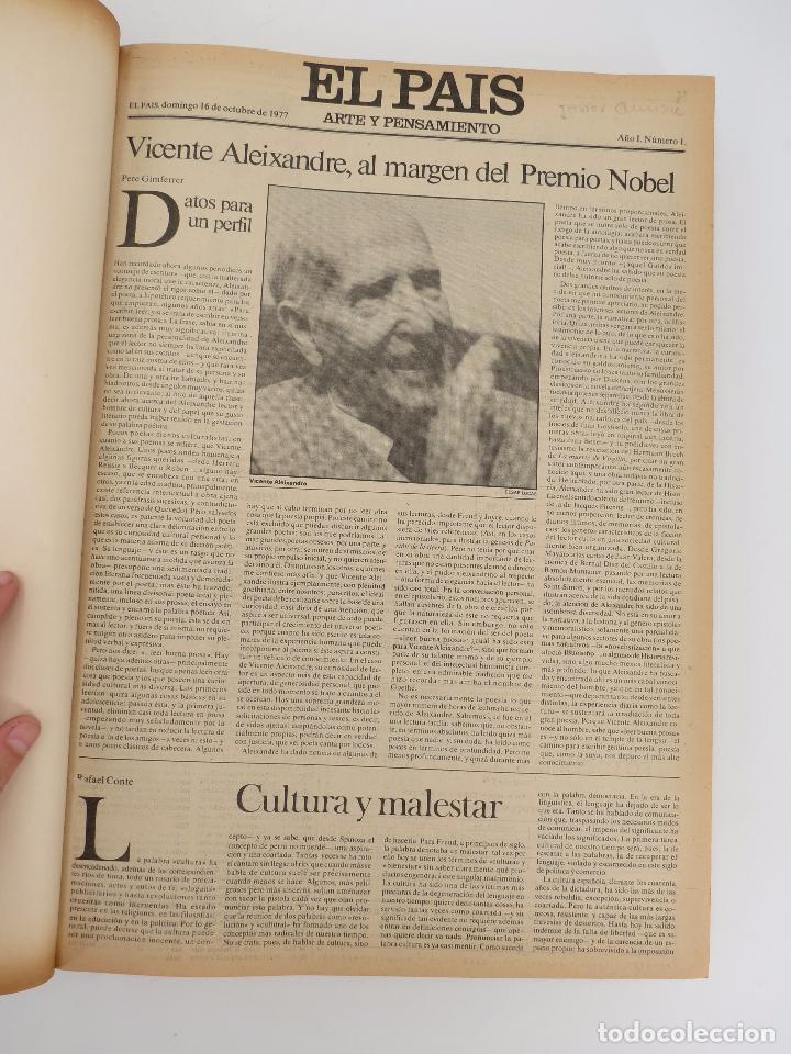 EL PAÍS. SUPLEMENTO ARTE Y PENSAMIENTO NºS 1 A 50 EN UN TOMO. 16 OCT 1977 – 24 SEPT 1978 TAPA DURA. (Coleccionismo - Revistas y Periódicos Modernos (a partir de 1.940) - Periódico El Páis)