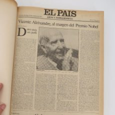 Coleccionismo de Periódico El País: EL PAÍS. SUPLEMENTO ARTE Y PENSAMIENTO NºS 1 A 50 EN UN TOMO. 16 OCT 1977 – 24 SEPT 1978 TAPA DURA. . Lote 83323216