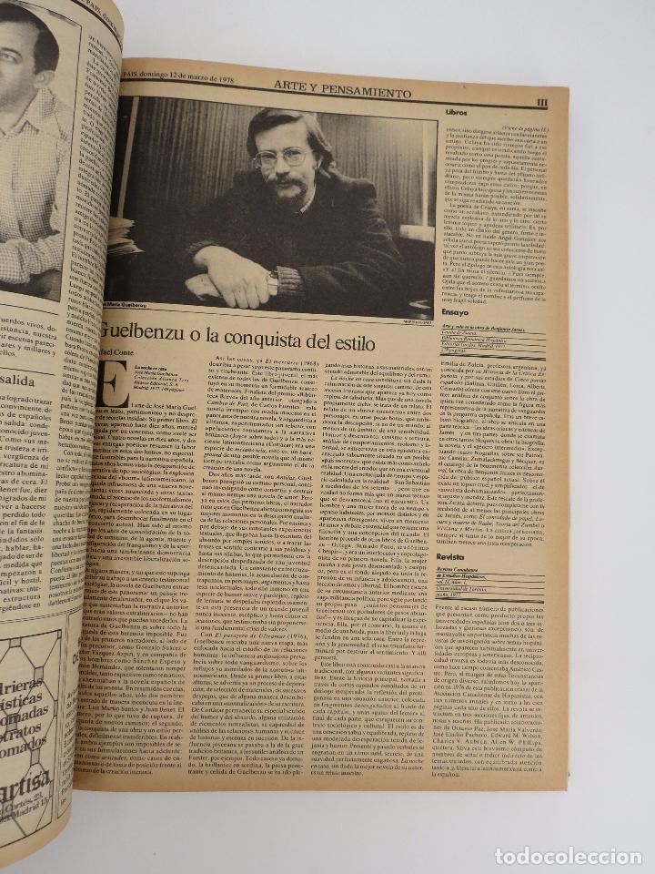 Coleccionismo de Periódico El País: EL PAÍS. SUPLEMENTO ARTE Y PENSAMIENTO NºS 1 A 50 EN UN TOMO. 16 OCT 1977 – 24 SEPT 1978 Tapa dura. - Foto 4 - 83323216