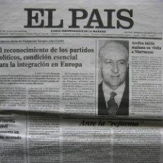Coleccionismo de Periódico El País: PPRLY - EL PAÍS. FACSÍMIL PORTADA PRIMER NÚMERO MARTES 4 DE MAYO DE 1978.. Lote 85086472