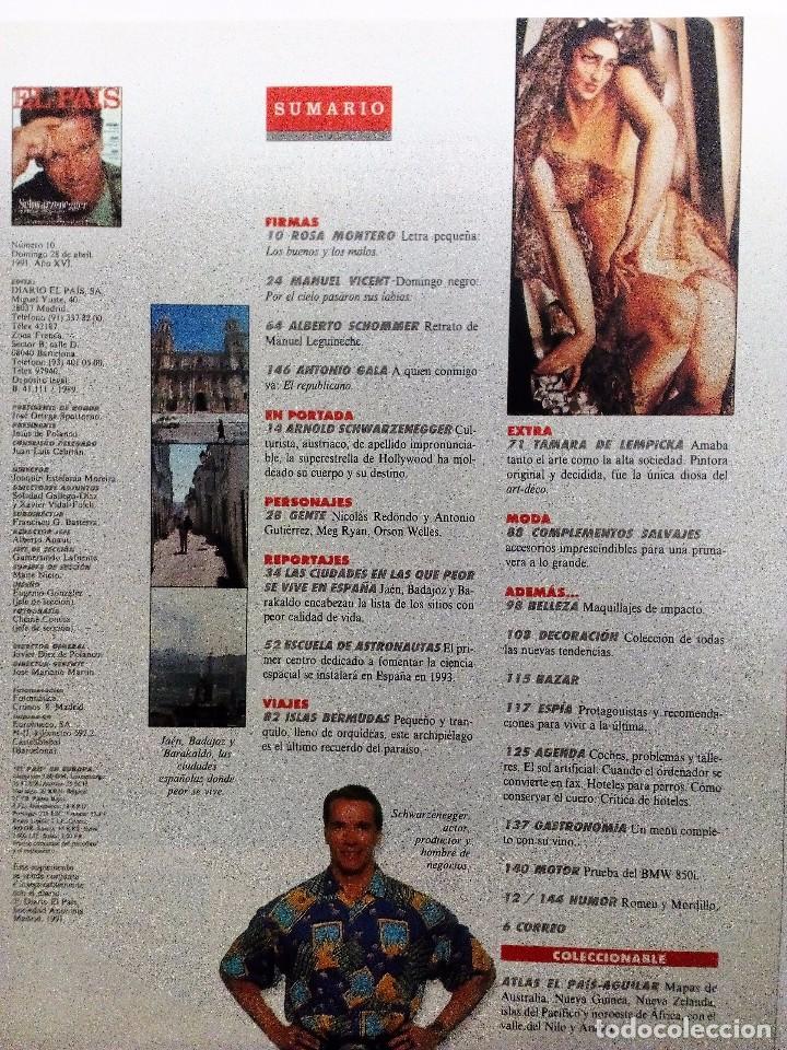 Coleccionismo de Periódico El País: EL PAÍS SEMANAL Nº 10 (1991) SCHWARZENEGGER-NICOLÁS REDONDO-ANTONIO GUTIÉRREZ-MEG RYAN-ORSON WELLES - Foto 2 - 86021964