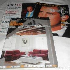 Coleccionismo de Periódico El País: TRES REVISTAS EL PAIS SEMANAL MAYO 1999-EXTRA DECORACION MAYO 1999-DOMINGO DEL 2000. Lote 95618615