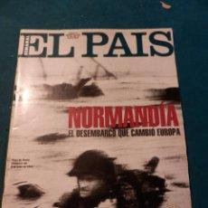 Coleccionismo de Periódico El País: NORMANDÍA, EL DESEMBARCO QUE CAMBIÓ EUROPA - EL PAÍS SEMANAL (EXTRA DÍA D)ROBERT CAPA-ESPAÑA AÑOS 40. Lote 95859643