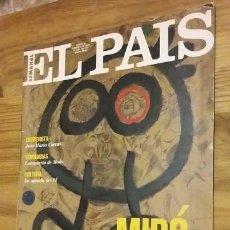 Coleccionismo de Periódico El País: EL PAIS SEMANAL. ARTE: MIRÓ CIEN AÑOS. Nº99 ENERO 1993. Lote 98816763
