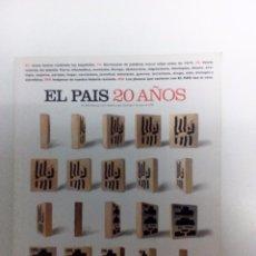 Coleccionismo de Periódico El País: EL PAIS - 20 AÑOS -NÚMERO EXTRA 1976-1996. Lote 99443711