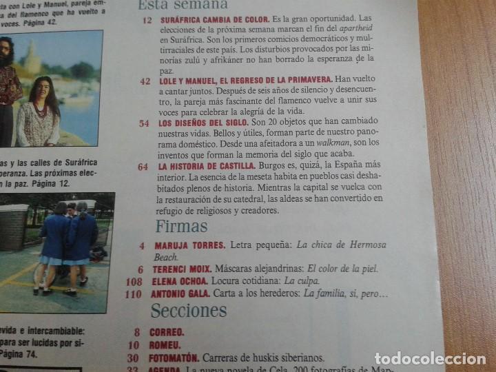 Coleccionismo de Periódico El País: EL PAIS SEMANAL nº 165 - 17/04/94 - Sudáfrica, Lole y Manuel, Nicole Kidman, Peter Gabriel, Castilla - Foto 2 - 99862679