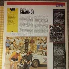 Coleccionismo de Periódico El País: EL TOUR. LÁMINA ALPE D´HUEZ, REVERSO CHARLY GAUL. COLECCIONABLE EL PAIS. Lote 100007819