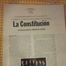 Coleccionismo de Periódico El País: MEMORIA DE LA TRANSICIÓN. COLECCIONABLE EL PAIS LA CONSTITUCION. FASCICULO 12. . Lote 100008087