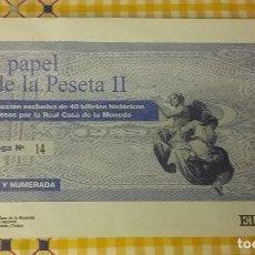 Coleccionismo de Periódico El País: EL PAPEL DE LA PESETA II. Nº 14. COLECCIONABLE EL PAIS. SOBRE CERRADO. Lote 100008167