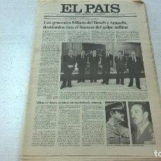 Coleccionismo de Periódico El País: PERIODICO EL PAIS-25 FEBRERO DE 1981-GOLPE DE ESTADO 23F-N. Lote 100746859