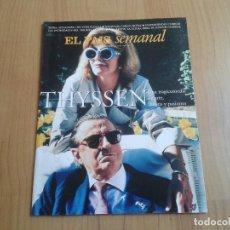 Coleccionismo de Periódico El País: EL PAIS SEMANAL Nº 1076 - 11/05/97 - THYSSEN, TIBURÓN BALLENA, ERIKAH BADU, SORIA, MANUEL NUÑEZ. Lote 101576815
