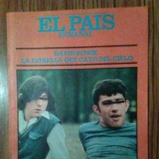 Coleccionismo de Periódico El País: EL PAIS SEMANAL. N° 17. AGOSTO 1977. DAVID BOWIE.. Lote 102636514