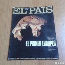 Coleccionismo de Periódico El País: EL PAIS SEMANAL Nº 236 - 27/08/95 - ATAPUERCA, VÍCTOR ULLATE, KETAMA, SWATCH, VINO, RAUL, ALCOTÁN. Lote 103990155
