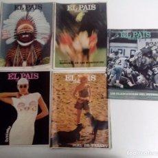 Coleccionismo de Periódico El País: EL PAÍS SEMANAL 1982 LOTE DE 4 REVISTAS + 1 DE REGALO. VER FOTOGRAFÍAS Y DESCRIPCIÓN. Lote 105131667
