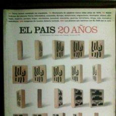 Coleccionismo de Periódico El País: NÚMERO ESPECIAL EL PAÍS 20 AÑOS, 1996.. Lote 54554760