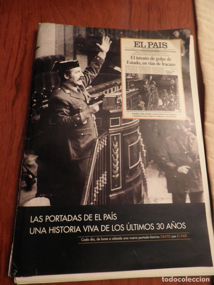 LAS PORTADAS DE EL PAIS - UNA HISTORIA VIVA DE LOS ULTIMOS 30 AÑOS IMCOMPLETO 21 FACSIMILES - 2006 (Coleccionismo - Revistas y Periódicos Modernos (a partir de 1.940) - Periódico El Páis)
