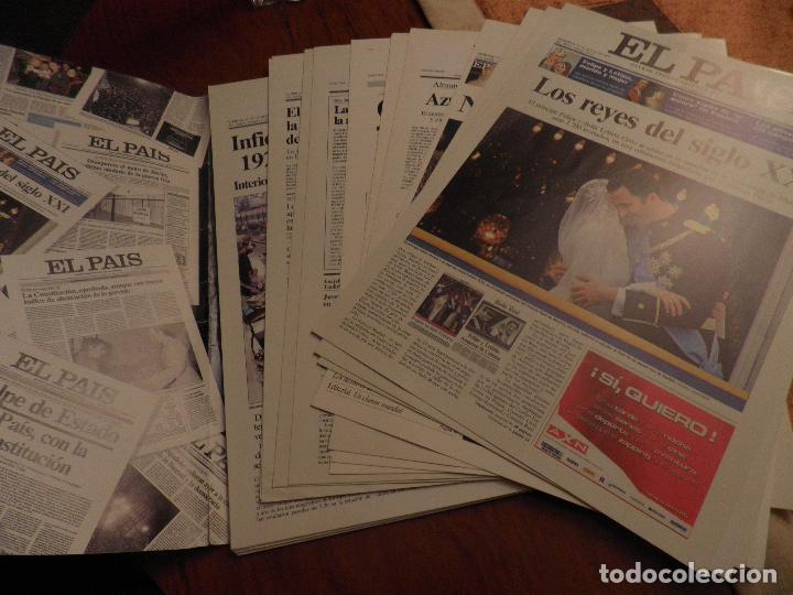 Coleccionismo de Periódico El País: LAS PORTADAS DE EL PAIS - UNA HISTORIA VIVA DE LOS ULTIMOS 30 AÑOS IMCOMPLETO 21 FACSIMILES - 2006 - Foto 3 - 110595527