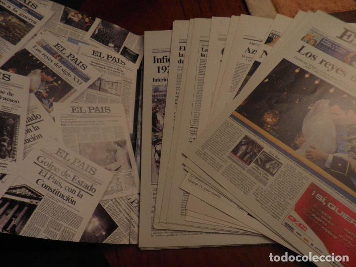 Coleccionismo de Periódico El País: LAS PORTADAS DE EL PAIS - UNA HISTORIA VIVA DE LOS ULTIMOS 30 AÑOS IMCOMPLETO 21 FACSIMILES - 2006 - Foto 4 - 110595527