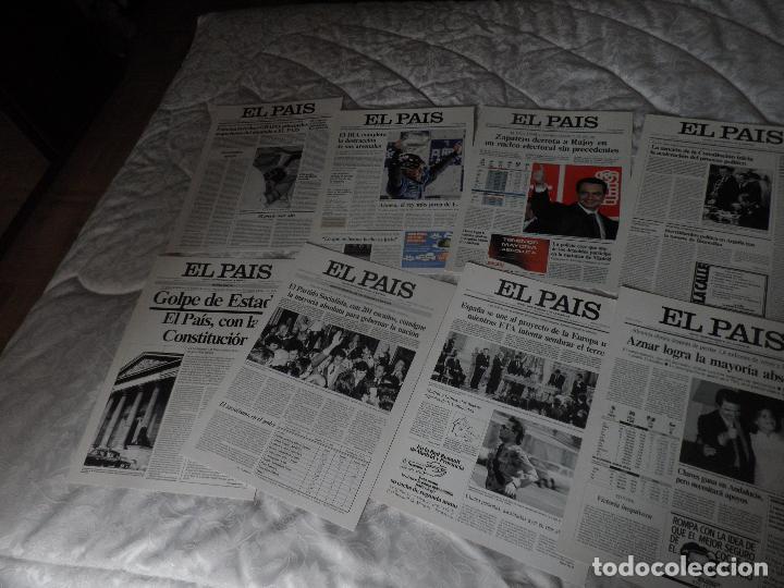 Coleccionismo de Periódico El País: LAS PORTADAS DE EL PAIS - UNA HISTORIA VIVA DE LOS ULTIMOS 30 AÑOS IMCOMPLETO 21 FACSIMILES - 2006 - Foto 6 - 110595527