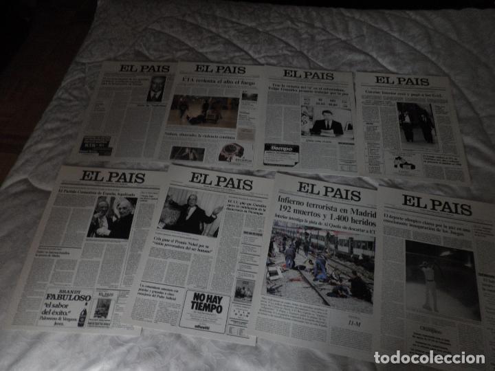 Coleccionismo de Periódico El País: LAS PORTADAS DE EL PAIS - UNA HISTORIA VIVA DE LOS ULTIMOS 30 AÑOS IMCOMPLETO 21 FACSIMILES - 2006 - Foto 7 - 110595527