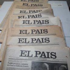 Coleccionismo de Periódico El País: LOTE 8 PERIÓDICOS EL PAÍS AÑOS 80. Lote 110662203