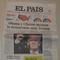 Coleccionismo de Periódico El País: EL PAIS - ELECCIONES EEUU - USA - TRUMP. Lote 113112995