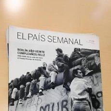 Coleccionismo de Periódico El País: EL PAIS SEMANAL 1725 (18-10-2009). 20 ANIVERSARIO CAIDA DEL MURO DE BERLIN. Lote 113771111