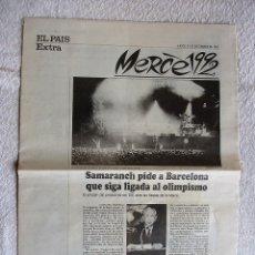 Coleccionismo de Periódico El País: EL PAÍS EXTRA JUEVES 24 DE SEPTIEMBRE DE 1992. Lote 115310579