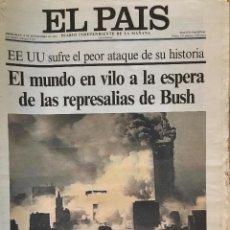 Coleccionismo de Periódico El País: EL PAÍS 12 DE SEPTIEMBRE 2001. EJEMPLAR COMPLETO. EDICIÓN VALLADOLID. Lote 116231991