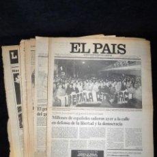 Coleccionismo de Periódico El País: DIARIO EL PAÍS, PÁGINAS EL PROCESO POR LA REBELIÓN MILITAR DEL 23 DE FEBRERO. GOLPE ESTADO 23-F. 196. Lote 116856555