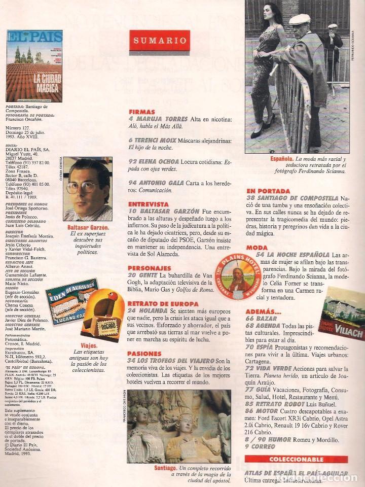 Coleccionismo de Periódico El País: EL PAÍS SEMANAL Nº 127 / 25 JULIO 1993 / SANTIAGO DE COMPOSTELA - Foto 2 - 117773915