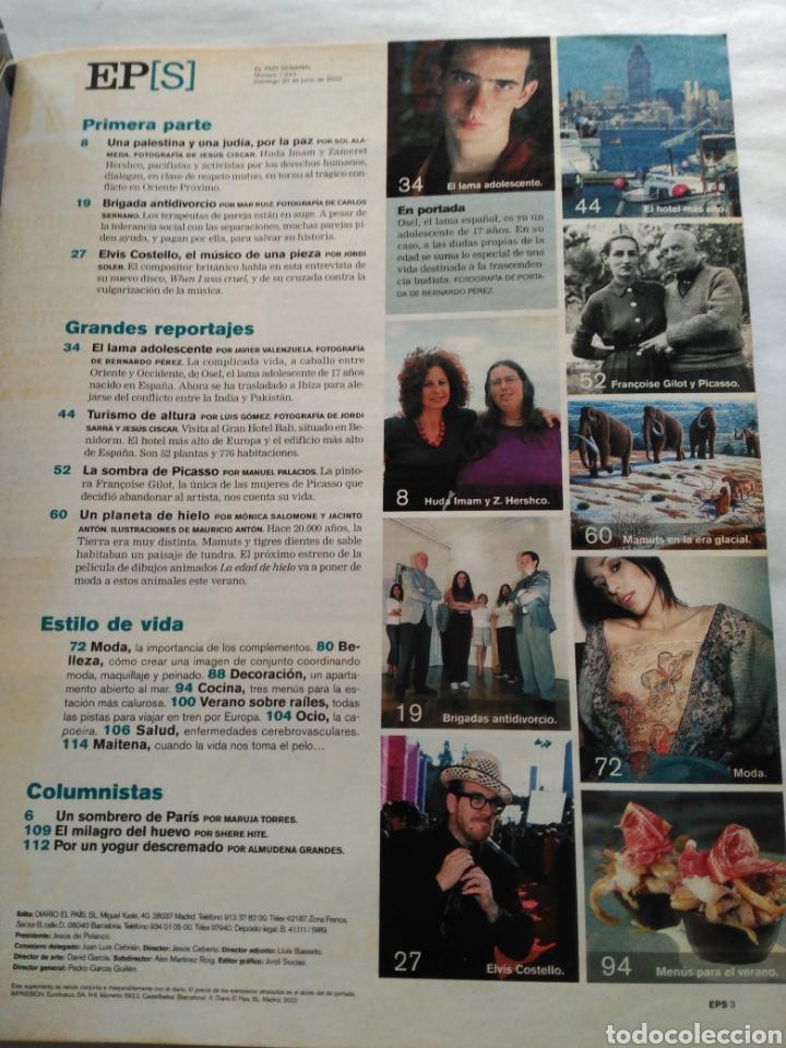 Coleccionismo de Periódico El País: El País Semanal 2002. Osel, el lama español. El hotel más alto de Europa en Benidorm. Elvis Costello - Foto 2 - 118517082