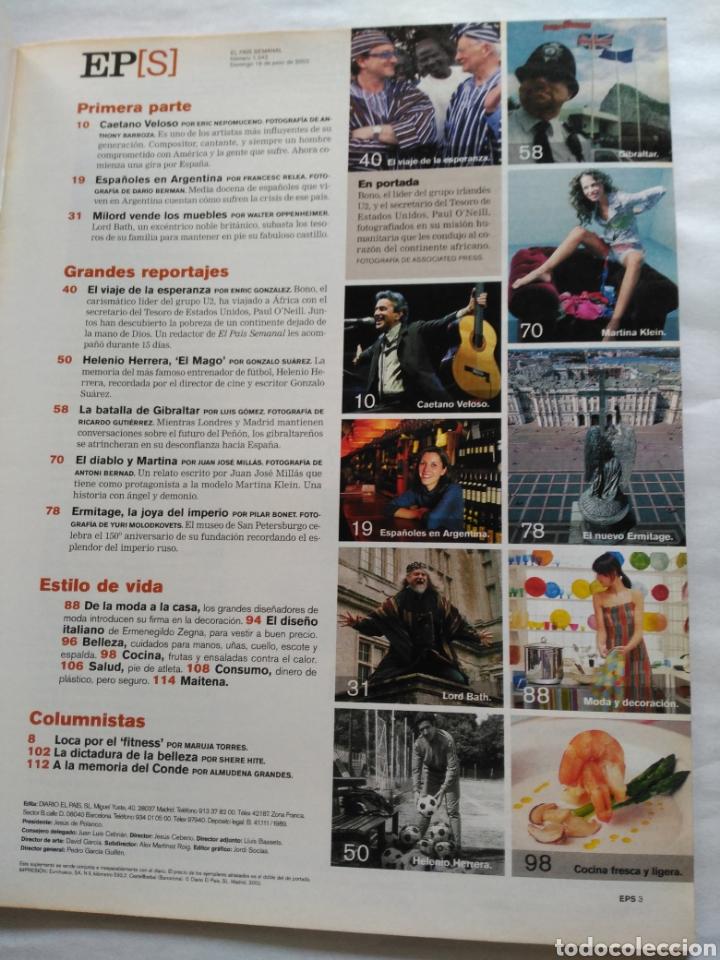 Coleccionismo de Periódico El País: El País Semanal 2002. El viaje de la esperanza. Bono. Ermitage. Caetano Veloso - Foto 2 - 118517439