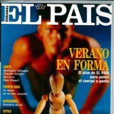 Coleccionismo de Periódico El País: EL PAIS SEMANAL NÚMERO 18 FECHADA EL 23 DE JUNIO DE 1991 BEE GEES CLAUDIA SCHIFFER. Lote 120554627