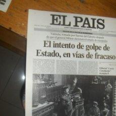 Coleccionismo de Periódico El País: LOTE DE 12 LAMINAS DE LAS PORTADAS HISTORICAS DEL DIARIO EL PAIS.. Lote 122261375