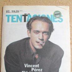 Collezionismo di Periódico El País: EL PAÍS DE LAS TENTACIONES. Nº 65. 20 DE ENERO 1995. VINCENT PÉREZ. EL HÉROE ROMÁNTICO. Lote 122675483