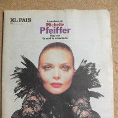 Coleccionismo de Periódico El País: EL PAÍS DE LAS TENTACIONES. Nº 16. 11 DE FEBRERO 1994. MICHELLE PFEIFFER.. Lote 122679015