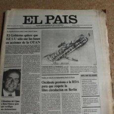 Coleccionismo de Periódico El País: DIARIO EL PAÍS. Nº 3339. 28 MAYO 1986. OTAN. . Lote 122696075
