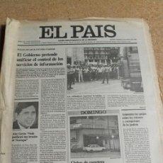 Coleccionismo de Periódico El País: DIARIO EL PAÍS. Nº 3336. 15 MAYO 1986. SERVICIOS DE INFORMACIÓN.. Lote 122755255