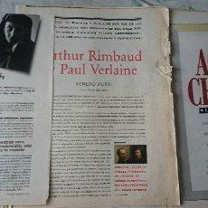 Coleccionismo de Periódico El País: RIMBAUD Y VERLAINE + EDITH SITWELL + OTRAS MUJERES. POR ROSA MONTERO (EL PAÍS SEMANAL CIRCA 1995). Lote 128189291