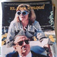 Coleccionismo de Periódico El País: EL PAÍS SEMANAL. THYSSEN. NUM 1076. MAYO 1997. Lote 128487763