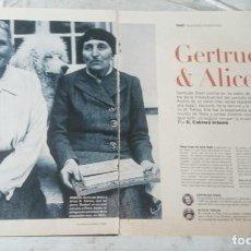 Coleccionismo de Periódico El País: GERTRUDE & ALICE. POR GUILLERMO CABRERA INFANTE (EL PAÍS SEMANAL CIRCA 1995). Lote 129397043