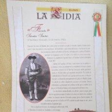 Coleccionismo de Periódico El País: LA LIDIA EL PAIS - 32 LAMINAS DE 39 X 27 CM - EDICION TAURINA COLECCIONABLE DE EL PAIS LAMINA 11. Lote 130264970