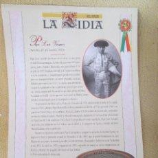 Coleccionismo de Periódico El País: LA LIDIA EL PAIS - 32 LAMINAS DE 39 X 27 CM - EDICION TAURINA COLECCIONABLE DE EL PAIS LAMINA 26. Lote 130265686