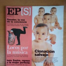 Coleccionismo de Periódico El País: EL PAÍS SEMANAL - 1 DE ABRIL DE 2001 - NÚMERO 1279 - FERNANDO SAVATER - INÉS SASTRE. Lote 130741014